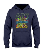 Art is an adventure that never ends Hooded Sweatshirt thumbnail