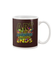 Art is an adventure that never ends Mug front