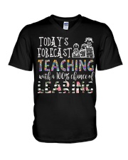 Today's forecast Teaching V-Neck T-Shirt thumbnail