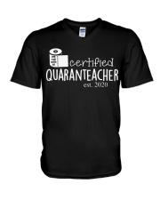 Quaranteacher est 2020 V-Neck T-Shirt thumbnail
