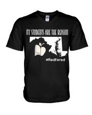 My students are the reason V-Neck T-Shirt thumbnail