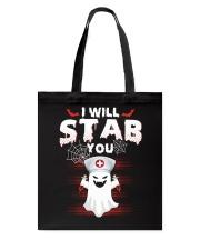 I Will Stab You Tote Bag thumbnail