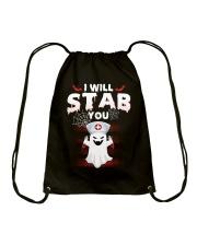 I Will Stab You Drawstring Bag thumbnail