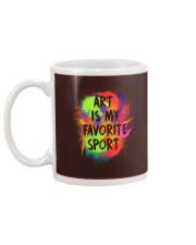 Art is my Favorite Sport Mug back