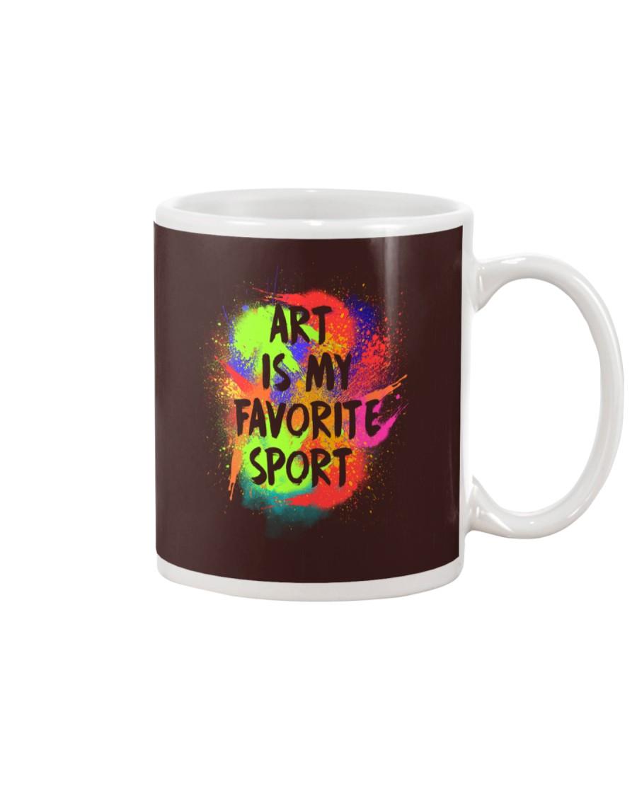 Art is my Favorite Sport Mug