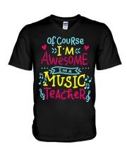 I'm a Music Teacher V-Neck T-Shirt thumbnail