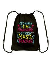 I'm a Music Teacher Drawstring Bag thumbnail