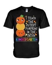 PUMPKINS KINDERGARTEN V-Neck T-Shirt thumbnail