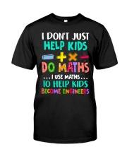 Math Help Kids Classic T-Shirt front