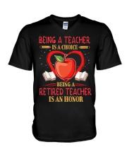 Being a teacher is a choice V-Neck T-Shirt thumbnail