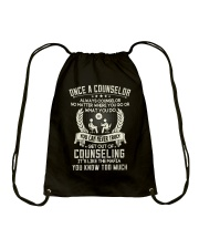 Once a Counselor Drawstring Bag thumbnail