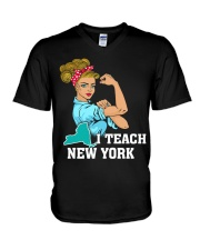 I TEACH NEW YORK V-Neck T-Shirt thumbnail