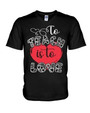 TO TEACH IS TO LOVE V-Neck T-Shirt thumbnail