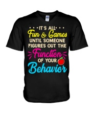 It's all fun and game V-Neck T-Shirt thumbnail