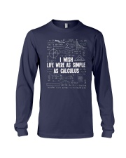I wish life were as simple as caculus Long Sleeve Tee thumbnail