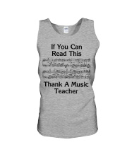Thank a Music Teacher Unisex Tank tile