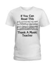Thank a Music Teacher Ladies T-Shirt front