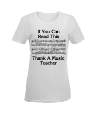 Thank a Music Teacher Ladies T-Shirt women-premium-crewneck-shirt-front