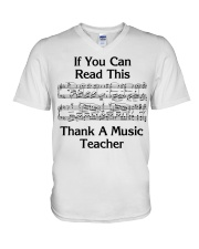 Thank a Music Teacher V-Neck T-Shirt thumbnail