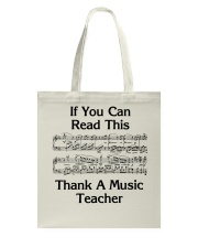 Thank a Music Teacher Tote Bag thumbnail