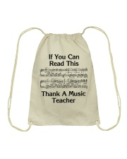 Thank a Music Teacher Drawstring Bag thumbnail