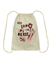 Keep calm i am a nurse Drawstring Bag thumbnail