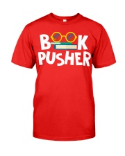 BOOK PUSHER Classic T-Shirt front