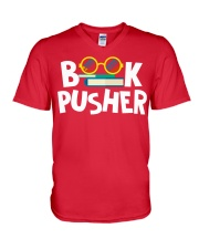 BOOK PUSHER V-Neck T-Shirt thumbnail