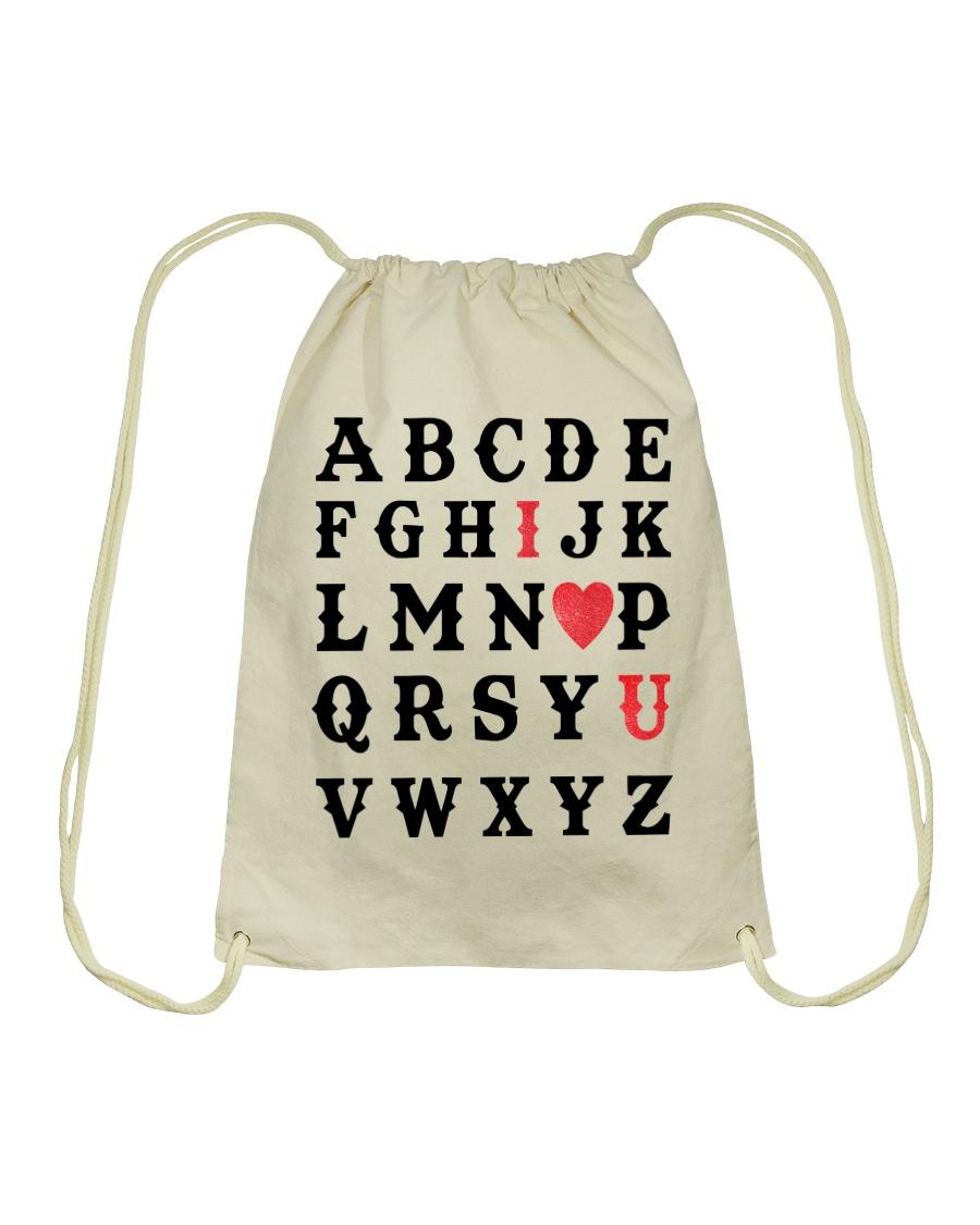 I LOVE YOU  Drawstring Bag