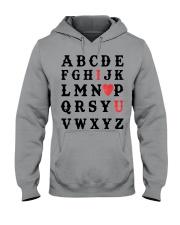 I LOVE YOU  Hooded Sweatshirt thumbnail