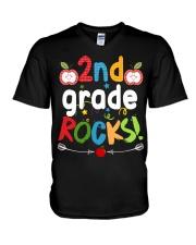 2nd grade rocks V-Neck T-Shirt thumbnail