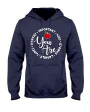 Teacher Love Hooded Sweatshirt front