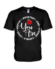 Teacher Love V-Neck T-Shirt thumbnail