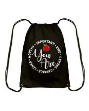 Teacher Love Drawstring Bag front