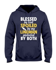 Blessed by God Spoiled by my Lineman Hooded Sweatshirt thumbnail