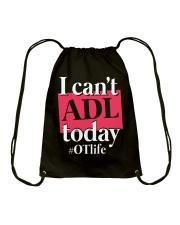 I Can't ADL today Drawstring Bag thumbnail