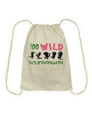100 Wild Days Of Kindergarten Drawstring Bag thumbnail