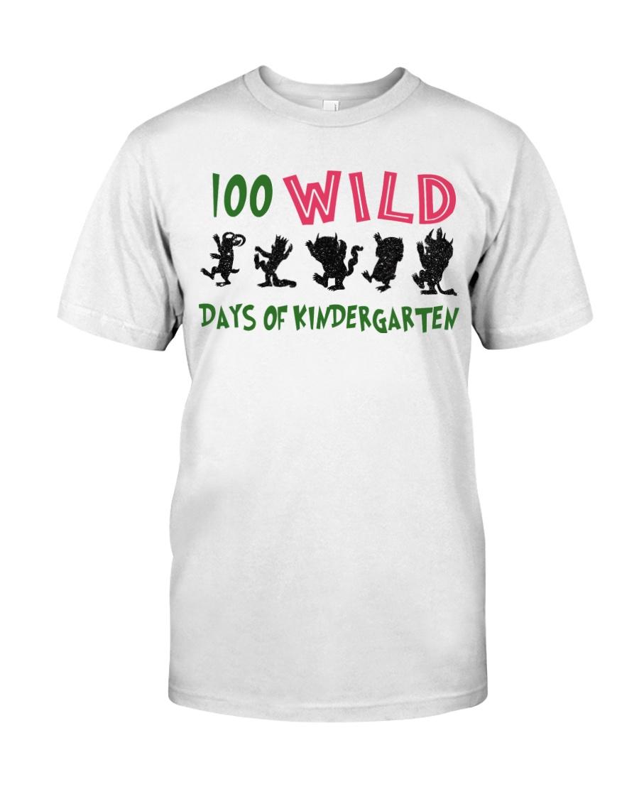 100 Wild Days Of Kindergarten Classic T-Shirt