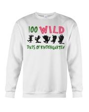 100 Wild Days Of Kindergarten Crewneck Sweatshirt thumbnail
