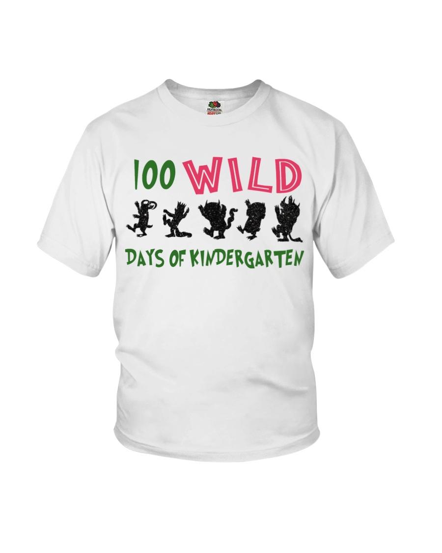 100 Wild Days Of Kindergarten Youth T-Shirt