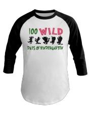 100 Wild Days Of Kindergarten Baseball Tee thumbnail