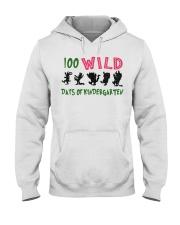 100 Wild Days Of Kindergarten Hooded Sweatshirt thumbnail