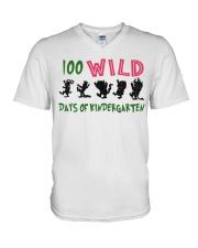 100 Wild Days Of Kindergarten V-Neck T-Shirt thumbnail