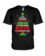 SPREAD CHRISTMAS CHEER IS TEACHING MATH V-Neck T-Shirt thumbnail