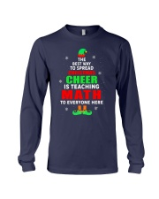 SPREAD CHRISTMAS CHEER IS TEACHING MATH Long Sleeve Tee thumbnail