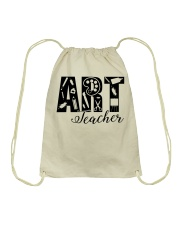 ART TEACHER  Drawstring Bag front