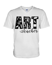 ART TEACHER  V-Neck T-Shirt thumbnail