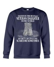 Perfect Gift - for Veteran Dad Crewneck Sweatshirt thumbnail