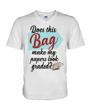Does this Bag make my papers V-Neck T-Shirt thumbnail