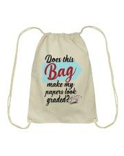 Does this Bag make my papers Drawstring Bag thumbnail
